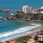 Vue du ciel par drone de Biarritz