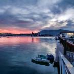 Ambiance hivernale baie de Txingudi