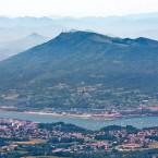 Photos aérienn de la baie de Txingudi