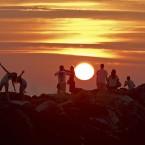Couché de soleil d'Anglet - Pays Basque